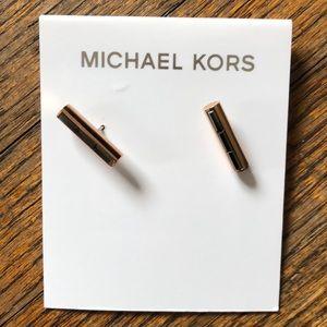 Michael Kors Gold Bar Earrings